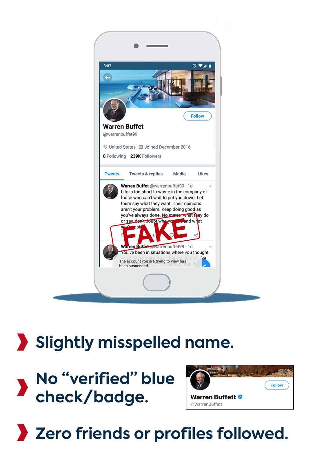 Fake Warren Buffet Twitter Account