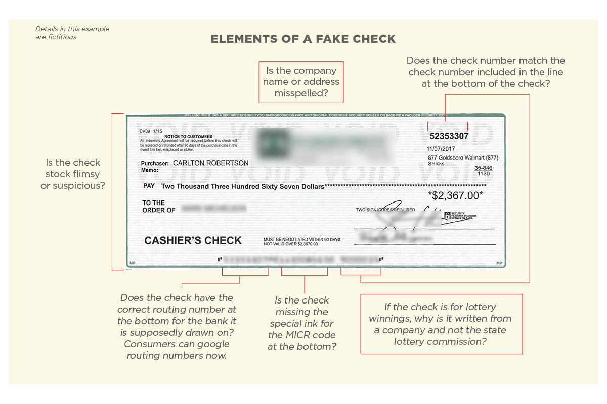 Fake Check Example