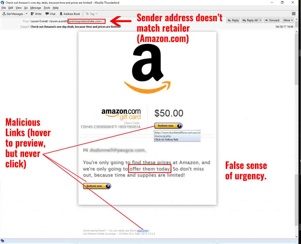 Fake Gift Card Offer Diagram
