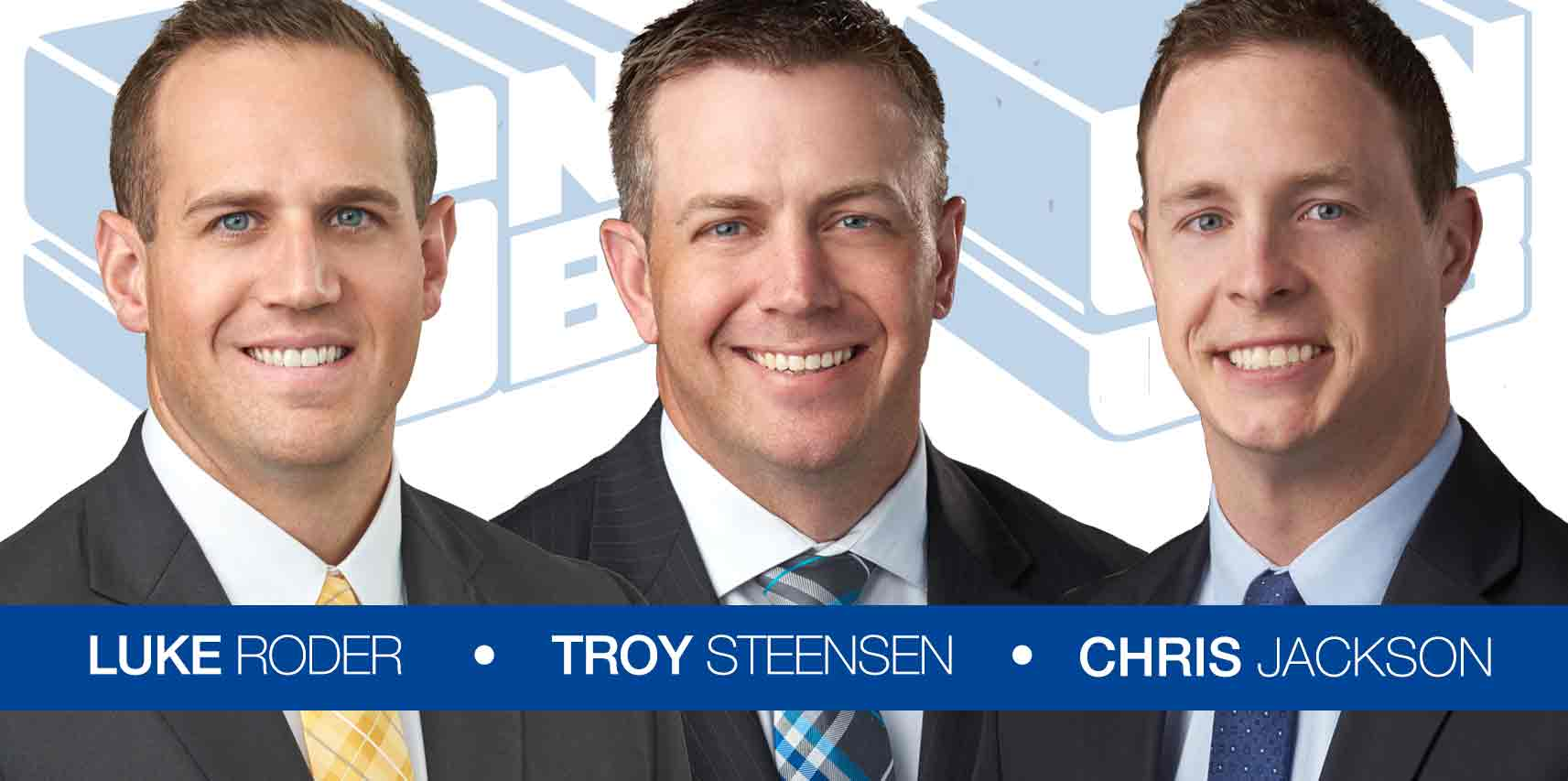 Luke Roder, Troy Steensen and Chris Jackson