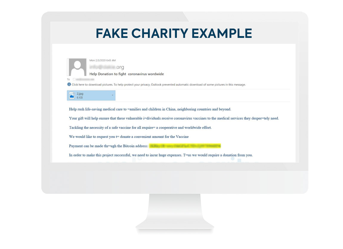 Fake Charity Example