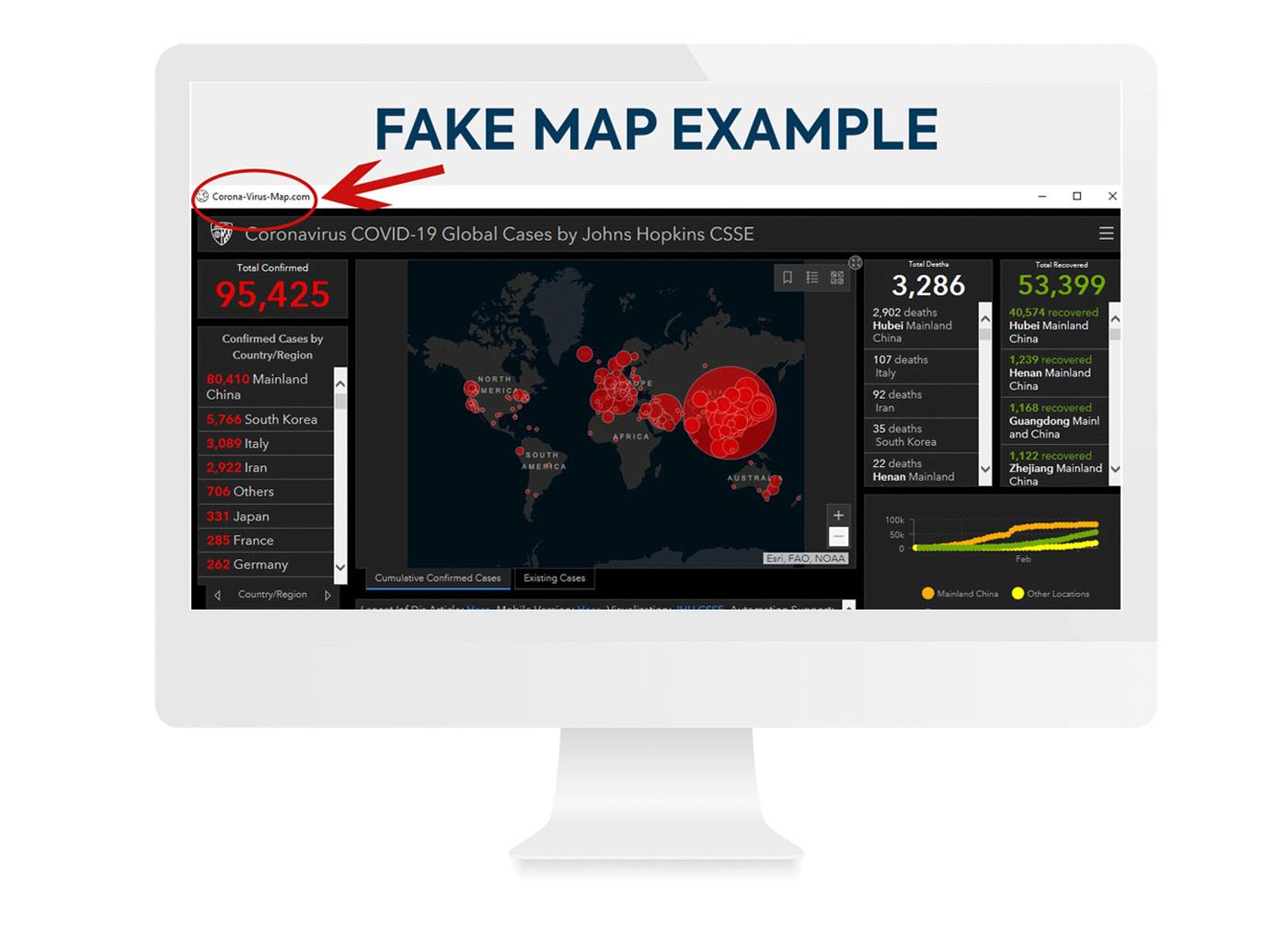 Example: Fake Coronavirus Map