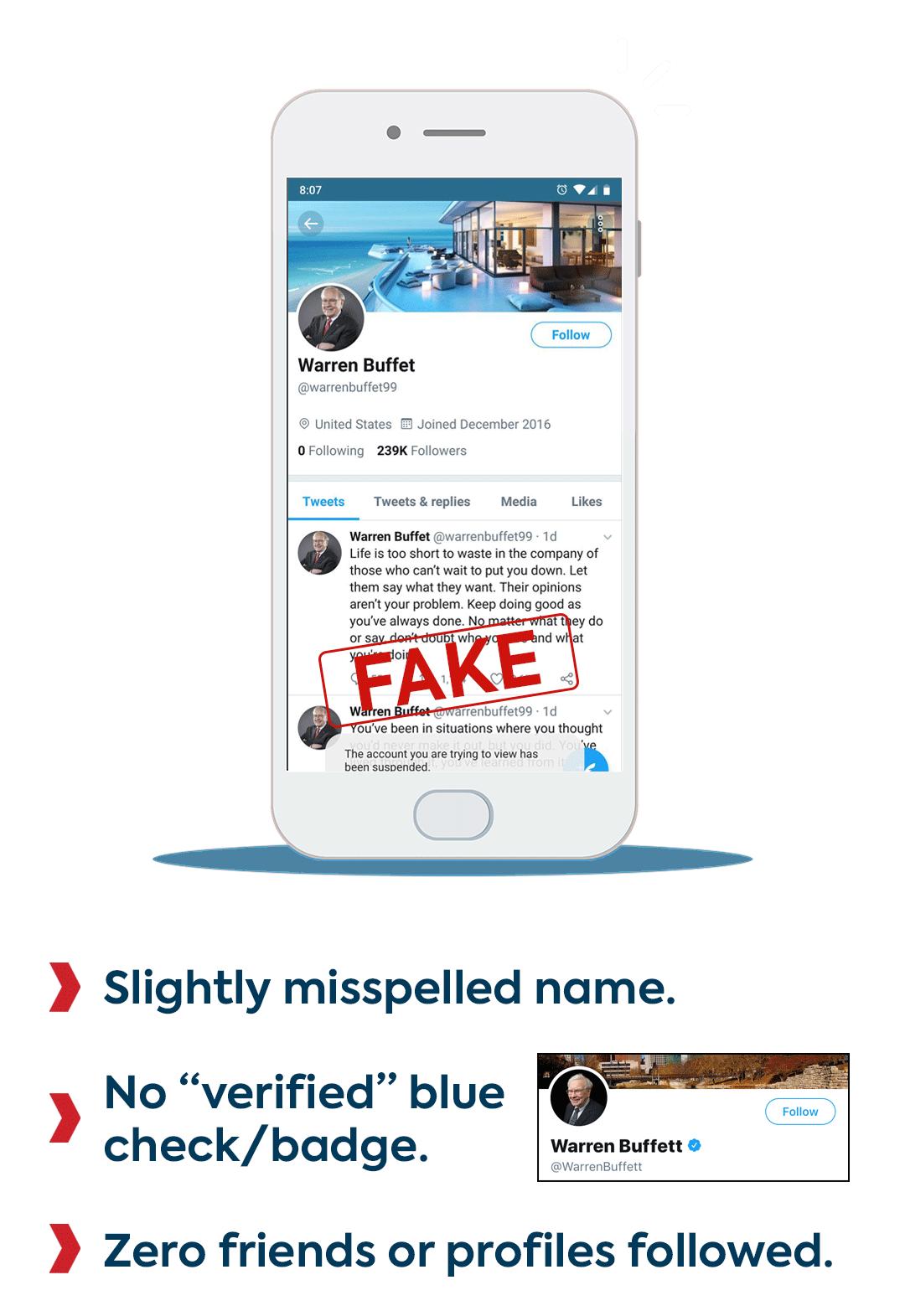 Fake Celebrity Profile Example