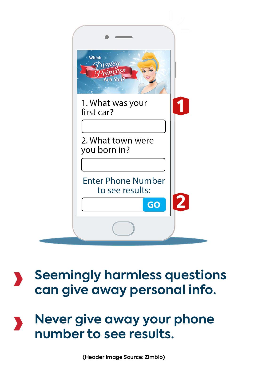 fake social media quiz example