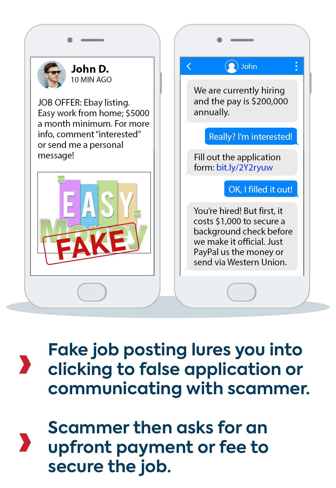 fake job scam example