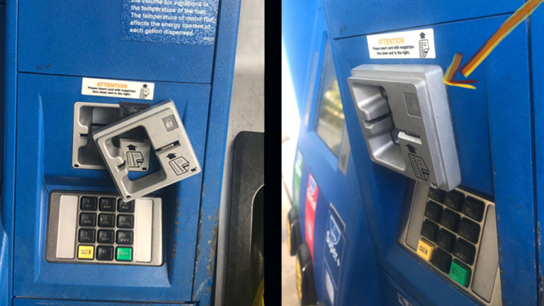 Example of a Bulky Card Skimmer