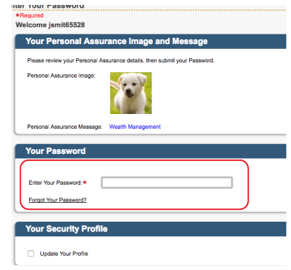 Select Forgot My Password