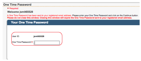 Enter One-Time Password: Online Trust