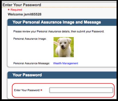 Enter Password: Online Trust